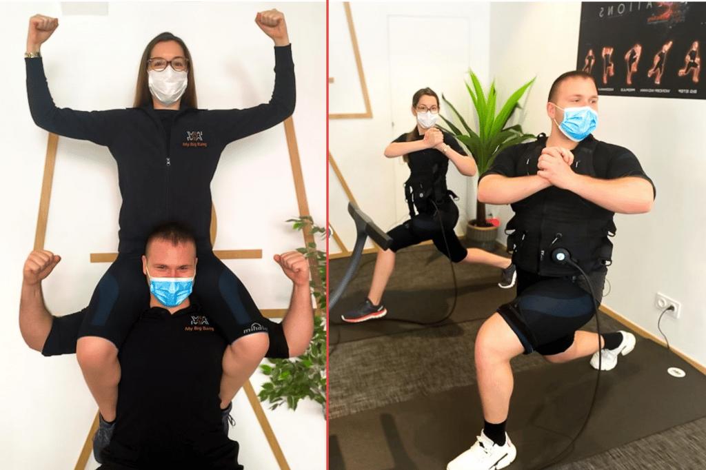 renforcement musculaire par electrostimulation.  20min pour renforcer son corps en globalité